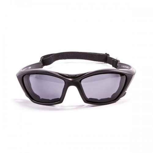 Ocean Sunglasses with polarized lens / Floating  / Lake Garda Black Matte-Smoke lens