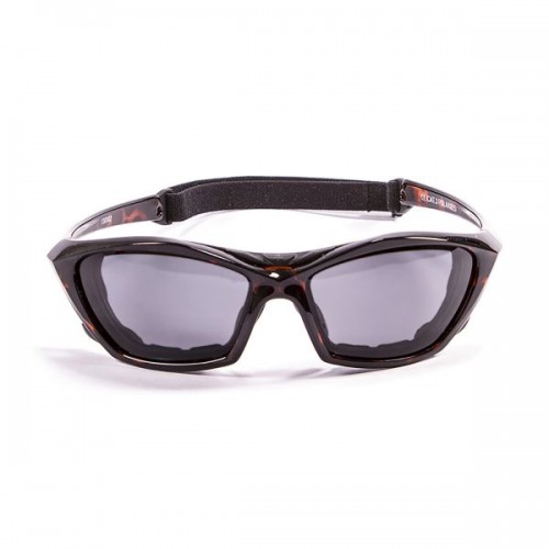 Ocean Sunglasses with polarized lens / Floating / Lake Garda / Demy Brown - Smoke lens