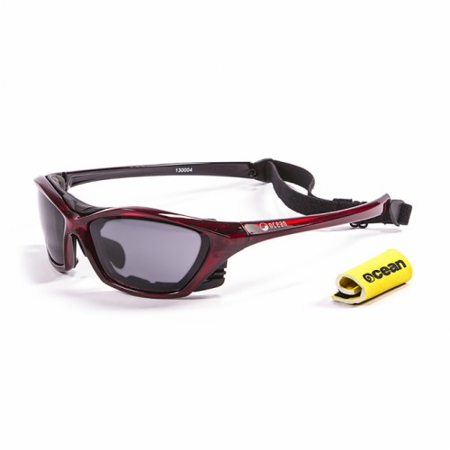 Ocean Sunglasses with polarized lens / Floating  / Lake Garda Red -Smoke lens