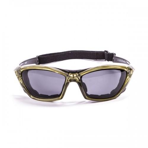 Ocean Sunglasses with polarized lens / Floating  / Lake Garda Green -Smoke lens