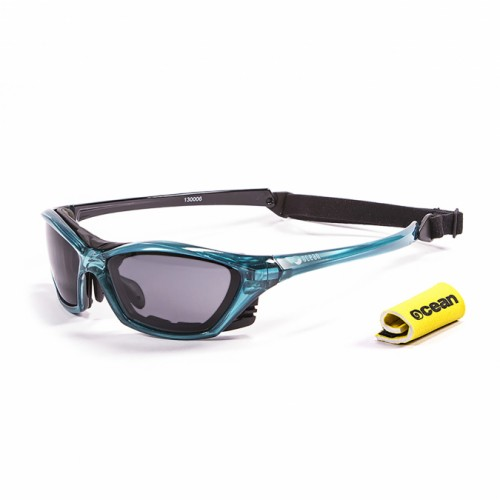 Ocean Sunglasses with polarized lens / Floating  / Lake Garda Blue-Smoke lens