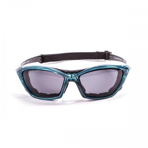 Ocean Sunglasses with polarized lens / Floating  / Lake Garda Blue-Smoke lens