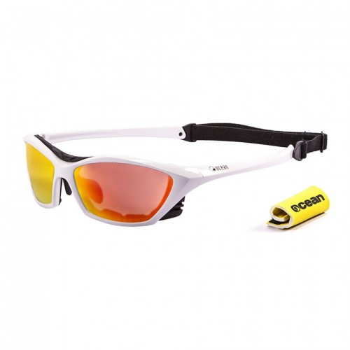 Ocean Sunglasses with polarized lens / Floating  / Lake Garda White-RevoRed