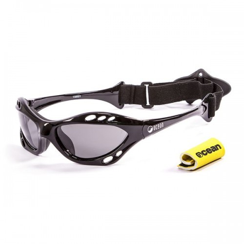 Ocean Sunglasses with polarized lens / Floating  / CUMBUCO / Shiny Black