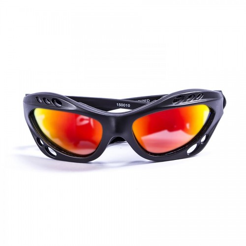 Ocean Sunglasses with polarized lens / Floating  / CUMBUCO / mat Black-RevoRed