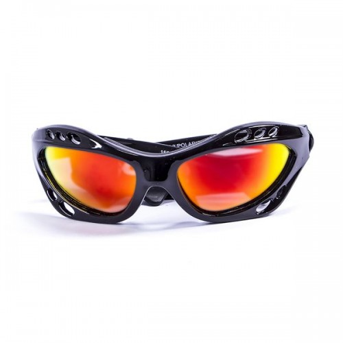 Ocean Sunglasses with polarized lens / Floating  / CUMBUCO / Shiny Black-RevoRed