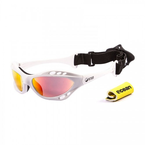 Ocean Sunglasses with polarized lens / Floating  / CUMBUCO / White-RevoRed