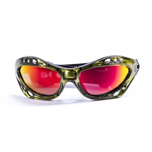 Ocean Sunglasses with polarized lens / Floating  / CUMBUCO / Green-RevoRed