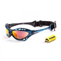 Ocean Sunglasses with polarized lens / Floating  / CUMBUCO / Blue-RevoRed