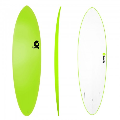 Surf board 6'8'' TORQ Epoxy TET funboard Soft Deck Green
