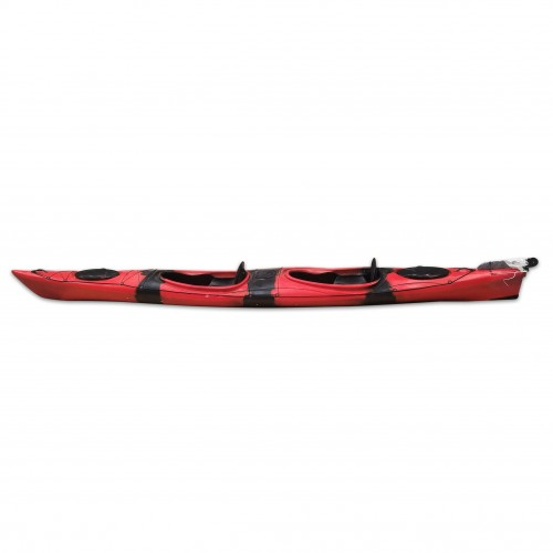 HUG sit-in kayak 2 person SCK with 2 paddles Red / Black