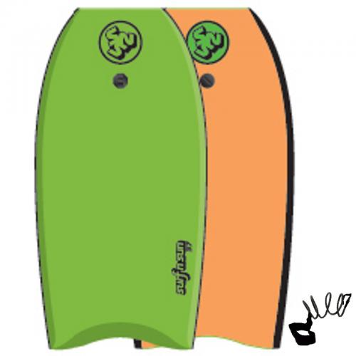 Bodyboard SurfnFun Similar 41'' λαϊμ-πορτοκαλί