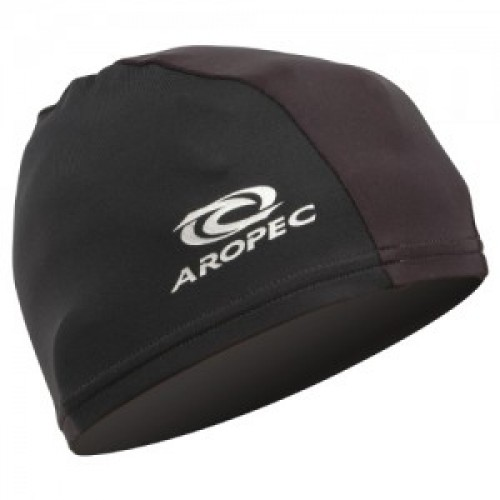 Adult Lycra swim cap Black