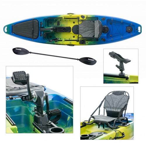 Cyclo 1 single seat bicycle kayak for fishing SCK blue-yellow