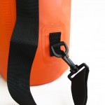 Waterproof bag 10L with back straps orange