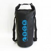 Waterproof bag 20L with back straps black