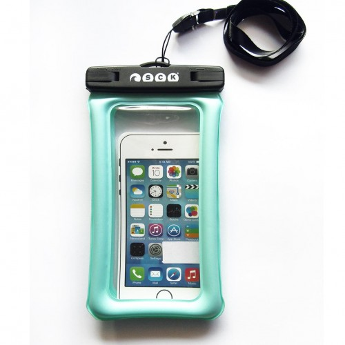 Waterproof phone case Floating SCK Cyan