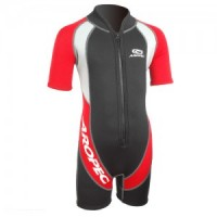 Child / infant neoprene wetsuit 2mm red Aropec