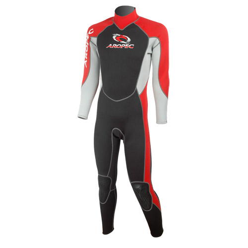 Wetsuit neopren 2,5mm fullsuit men red Aropec