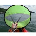 Round sail for kayak
