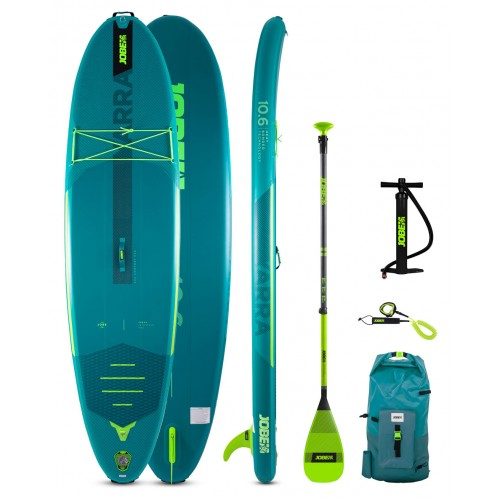 Jobe Inflatable SUP board 10'6'' Yarra Package - Teal Blue