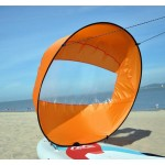 Round sail for kayak