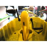 Fishing kayak for one person with pedals and propeller by Kings Kraft