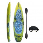 KungFU Kayak/SUP Winner with paddle and backrest - Yellow/Blue