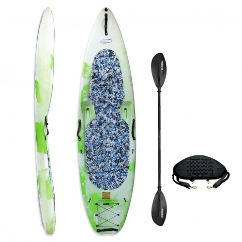 KungFU Kayak/SUP Winner with paddle and backrest - White/Green