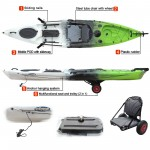 Leisure Dave Updated single kayak for fishing with rudder system and a comfortable aluminium seat