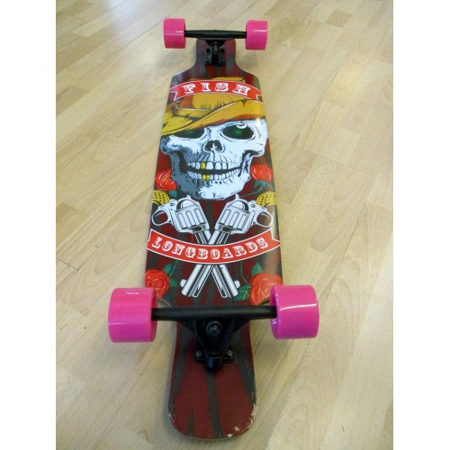 Longboard twin-tip 41'' Skull & Guns Fish