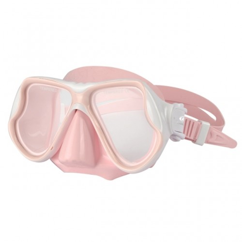 Children's Silicone Diving Mask with Double Lens Pink Aropec