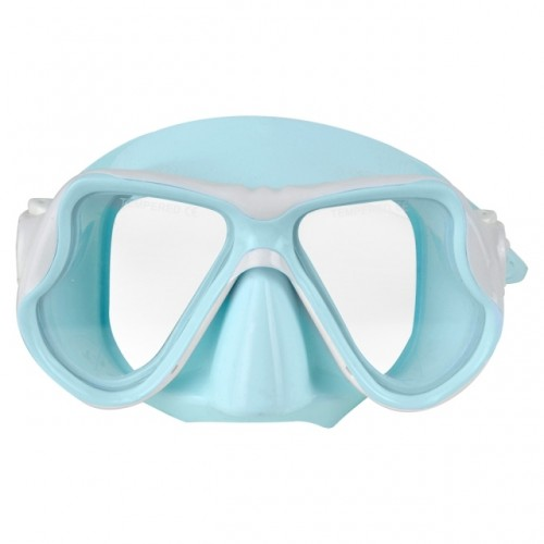 Children's Silicone Diving Mask with Double Lens Blue Aropec