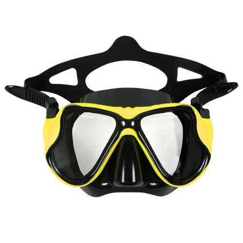 Two Lenses Diving Mask silicone Dragonfly Aropec