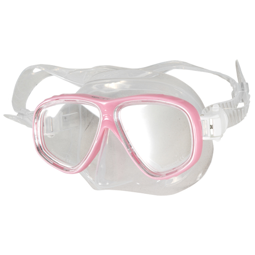 Two Lenses Diving silicone Mask Pink Aropec