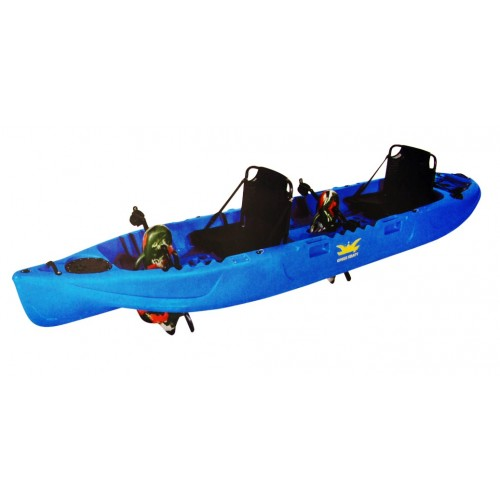 Fishing kayak for two people with pedals and propeller by Kings Kraft