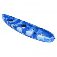 Nereus V19 2+1 seats sea Kayak SCK with 2 paddles and 2 backrest Blue / White