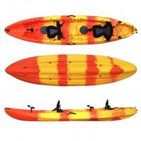 Nereus 2+1 seats sea Kayak SCK with 2 paddles and 2 backrest
