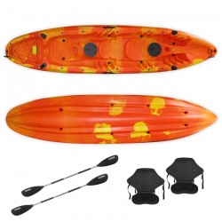 Nereus 2+1 seats sea Kayak SCK with 2 paddles and 2 backrest