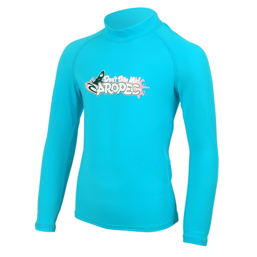 UV παιδική λύκρα μπλούζα με μακρύ μανίκι τιρκουάζ Aropec