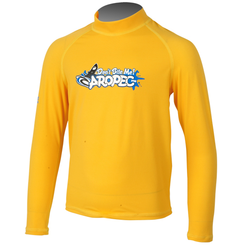 UV παιδική λύκρα μπλούζα με μακρύ μανίκι κίτρινη Aropec