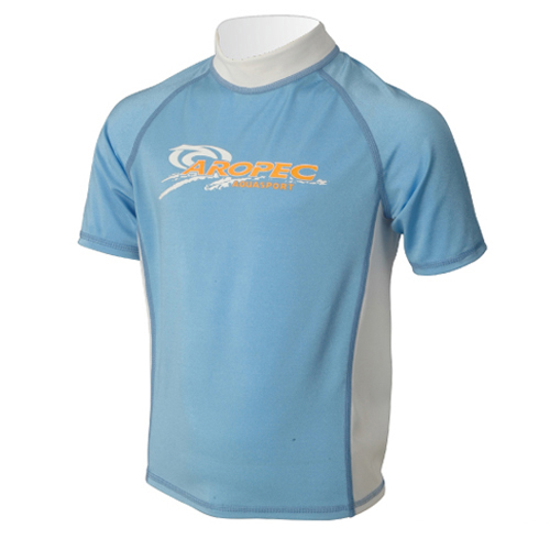 UV lycra short sleeve for kids light blue Aropec