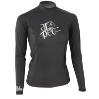 UV Lycra Long Sleeve Rash Guard for Woman black Aropec