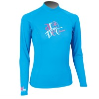 UV Lycra Long Sleeve Rash Guard for Woman tuquoise Aropec