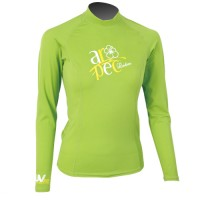 UV Lycra Long Sleeve Rash Guard for Woman lime Aropec