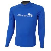 UV Lycra Long Sleeve Rash Guard for Man blue Aropec