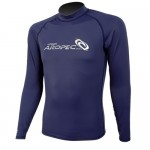 UV Lycra Long Sleeve Rash Guard for Man navy blue Aropec