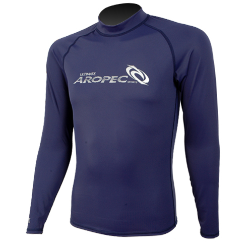 UV Lycra Long Sleeve Rash Guard for Man navy blue Aropec