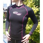 1.5mm Neoprene & UV Lycra Long Sleeve Rash Guard for Lady Aropec