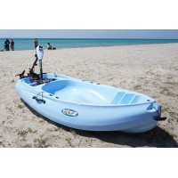 Rider 200 kayak with paddle and backrest Winner - Light Blue